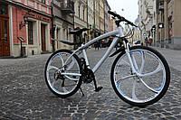 Горный велосипед на литых дисках BMW 21 скорость взрослый, подростковый, детский белый