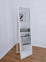 Зеркало напольное в деревянной раме сосна белая, фото 2