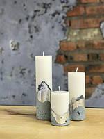 Оригинальные свечи с бетоном