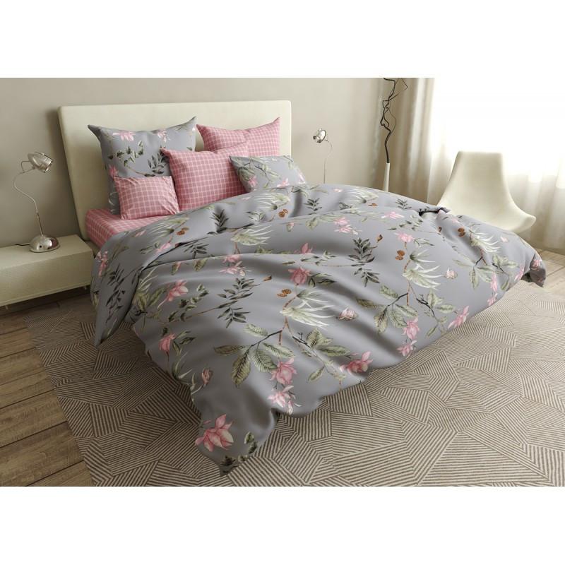 Комплект постельного белья Cells and flowers SoundSleep бязь евро