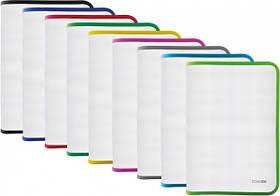Папка-пенал пластикова на блискавці Economix, А4, прозора, фактура: тканина, блискавка асорті(E31644-99)