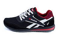 Мужские летние кроссовки из натуральной замши и сетки Reebok черные