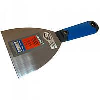 Шпательная лопатка сталева з нерж. покр. тип Профі, 100 мм