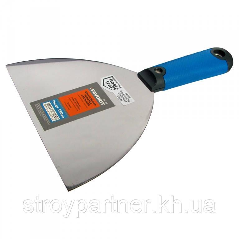 Шпательная лопатка стальная с нерж. покр. тип Профи, 150 мм