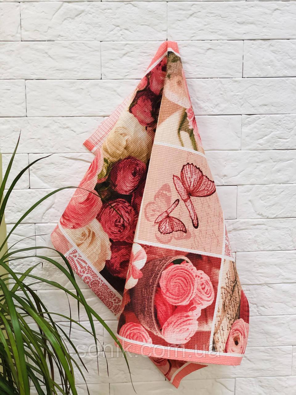 Полотенце кухонное Цветы 50*60