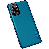 Защитный чехол Nillkin для Xiaomi POCO F3 / Redmi K40 / K40 Pro / K40 Pro+ (Super Frosted Shield) Blue Синий, фото 5