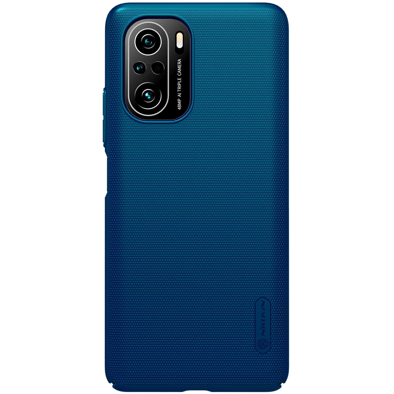 Защитный чехол Nillkin для Xiaomi POCO F3 / Redmi K40 / K40 Pro / K40 Pro+ (Super Frosted Shield) Blue Синий