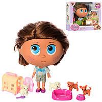 Кукла пупс с домашними животными и аксессуарами 18 см. BLD290 (Мальчик)