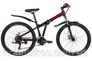 """Велосипед Formula - HUMMER AM DD (2021) (26""""-15"""") Черный/Красный"""
