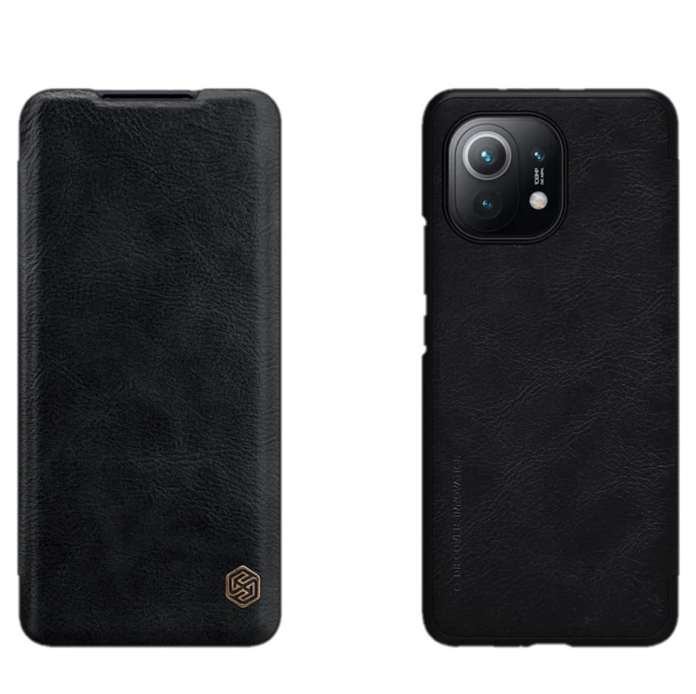 Защитный чехол-книжка Nillkin для Xiaomi Mi 11 (Qin leather case) Black Черный
