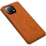 Захисний чохол-книжка Nillkin для Xiaomi Mi 11 (Qin leather case) Brown Коричневий, фото 5