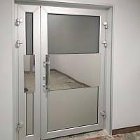 Холодные алюминиевые двери из профиля Framex 46 со стеклом