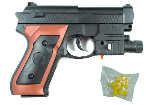 Детский пистолет стреляющий пластиковыми пулями.Игрушка пистолет