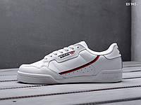 Мужские кроссовки Adidas Continental 80 (черные) KS 945 Демисезонные кеды на весну и лето