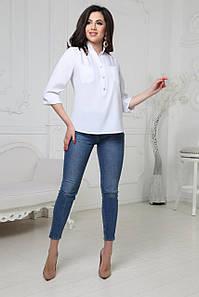 Жіноча блузка на гудзиках шифонова