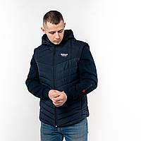 Мужская куртка Reebok со съёмными рукавами. Весна Осень Цвет темно-синий. Производство Турция.