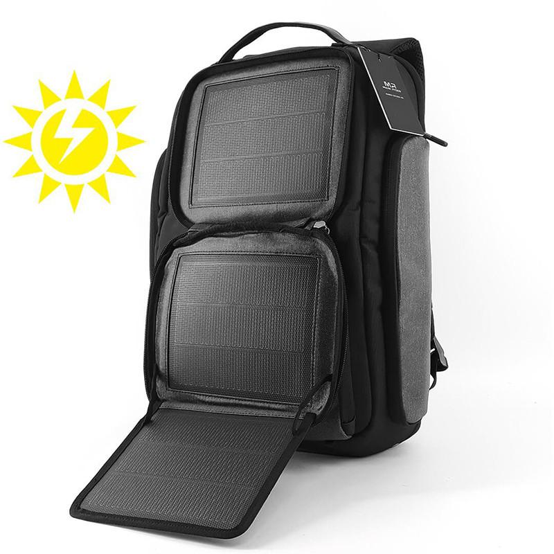 Рюкзак міський універсальний з сонячною батареєю Mark Ryden Energy Black Стильний рюкзак унісекс