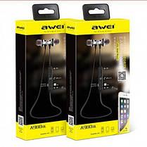 Бездротові Bluetooth-навушники гарнітура Awei A980BL Black, фото 3