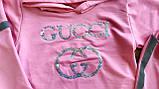 """Дитячий костюм-кофта з капюшоном і лосини """"Gucci"""" зі світловідбивачами, фото 3"""