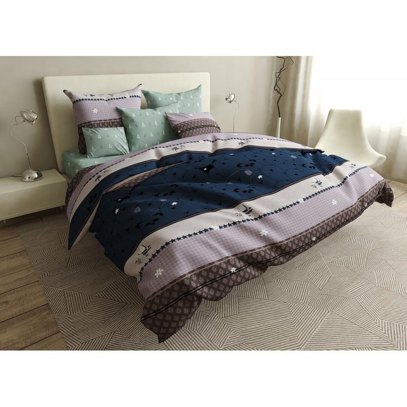 Комплект постельного белья Pandas SoundSleep бязь двуспальный