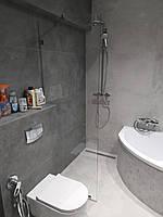 Стеклянная душевая перегородка 80 * 200 см шторка в душ в п-профили из закаленного стекла 8 мм