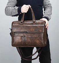 Якісна чоловіча сумка для документів А4 чоловічий портфель дипломат ділової для паперів Jeep