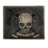 Мужской бумажник из натуральной кожи Череп