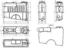 Емкость, бак 1000 литров для опрыскивателя на прицепной опрыскиватель AGRO, фото 3