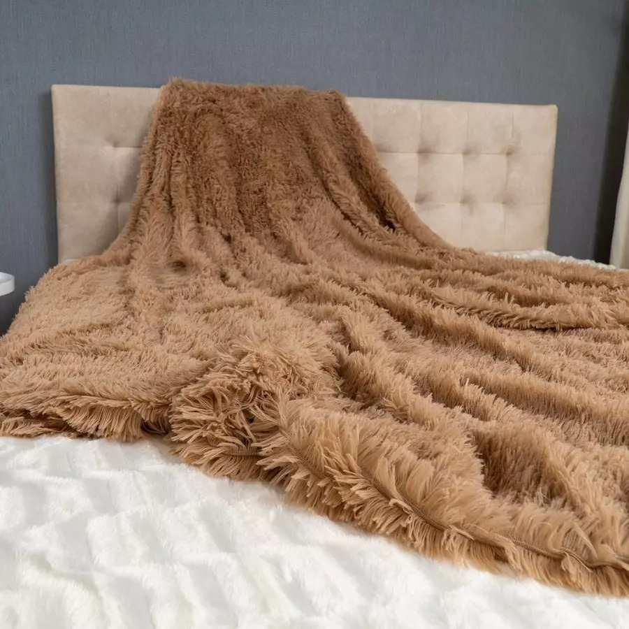 Плед-покривало Viluta хутровий Травичка
