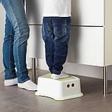 Передплата! Табурет дитячий IKEA FORSIKTIG білий 602.484.18, фото 4