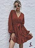 Платье женское свободное в горошек (Норма, Батал), фото 3