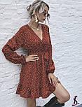Платье женское свободное в горошек (Норма, Батал), фото 4