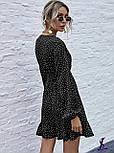 Платье женское свободное в горошек (Норма, Батал), фото 2