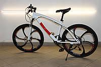 Горный велосипед на литых дисках BMW 21 скорость взрослый, подростковый, детский бело-красный