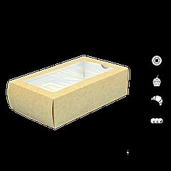 Упаковка для макаронссокном крафт 180х110х55мм