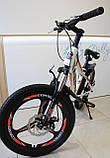 Спортивний велосипед Corso Aero на 20 дюймів дисковий колесо Сірий, фото 3