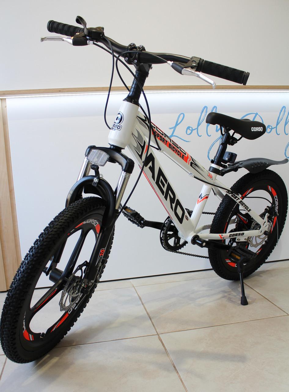 Спортивний велосипед Corso Aero на 20 дюймів дисковий колесо Сірий