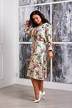 Красивое платье женское Шелк Размер 50 52 54 56 58 60 Разные цвета