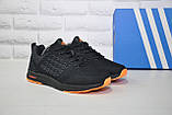 Кросівки чоловічі чорні сітка в стилі Adidas, фото 2