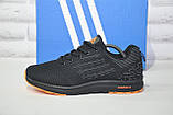 Кросівки чоловічі чорні сітка в стилі Adidas, фото 5