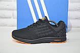 Кроссовки мужские черные сетка в стиле Adidas, фото 5