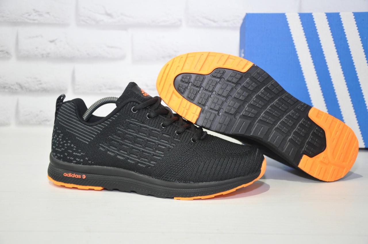 Кроссовки мужские черные сетка в стиле Adidas