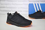 Кросівки чоловічі чорні сітка в стилі Adidas, фото 3
