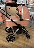 Детская универсальная коляска CARRELLO Optima CRL-6503 (2in1) Hot Pink розовая в льне резиновые колеса, фото 2