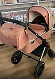 Детская универсальная коляска CARRELLO Optima CRL-6503 (2in1) Hot Pink розовая в льне резиновые колеса, фото 8