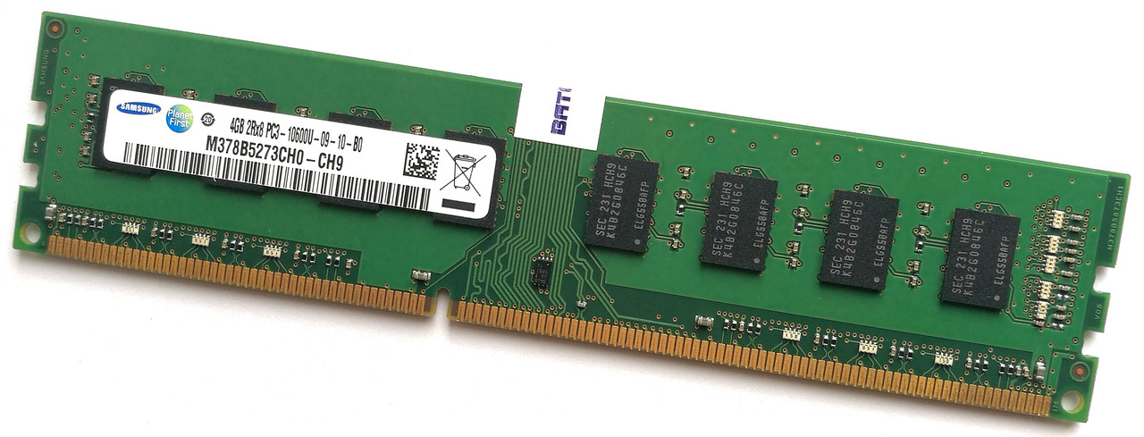 Оперативная память Samsung DDR3 4Gb 1333MHz PC3-10600 2R8 CL9 (M378B5273CH0-CH9) Б/У