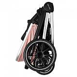 Детская универсальная коляска CARRELLO Optima CRL-6503 (2in1) Mirror Grey серая в льне резиновые колеса, фото 6