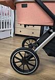 Детская универсальная коляска CARRELLO Optima CRL-6503 (2in1) Mirror Grey серая в льне резиновые колеса, фото 9