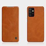 Защитный чехол-книжка Nillkin для Samsung Galaxy A72 5G (Qin leather case) Brown Коричневый, фото 7
