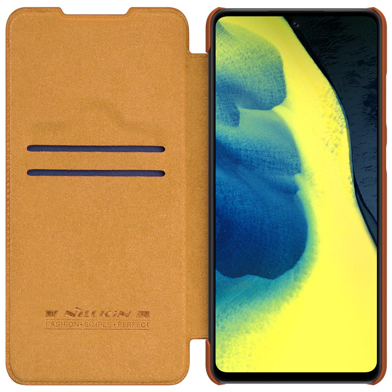 Защитный чехол-книжка Nillkin для Samsung Galaxy A72 5G (Qin leather case) Brown Коричневый